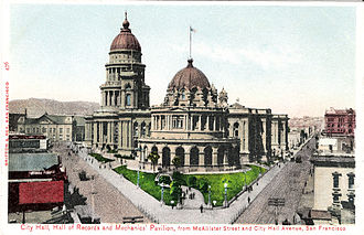 Joseph Britton (lithographer) - Image: City Hall San Francisco PC