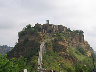 Socii - Site of a typical Etruscan hill town. Civita di Bagnoregio, Lazio, Italy