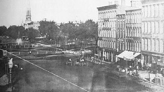 History of Cleveland - Possibly the oldest photograph of Public Square from 1857