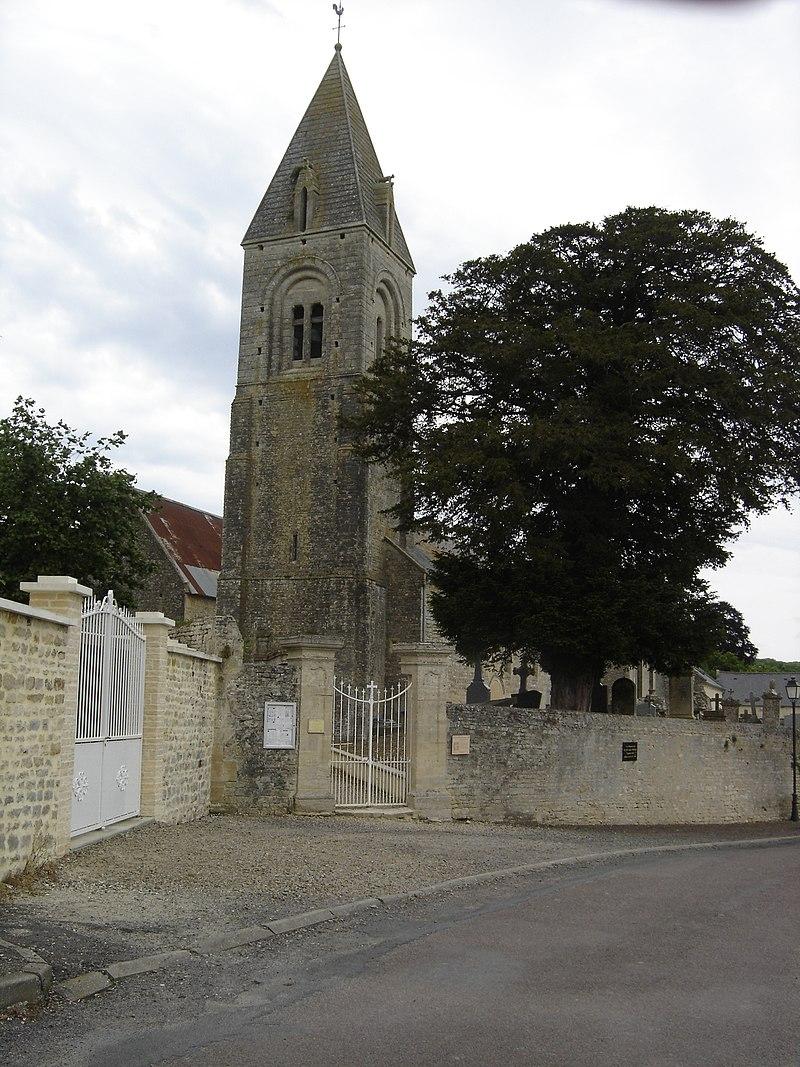 Clocher de l'égliseSaint-Pierre de Le Manoir.JPG