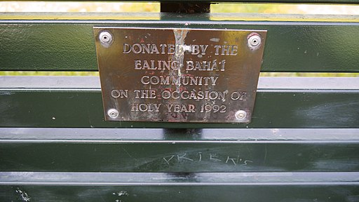 Close-up of the inscription (OpenBenches 5820)