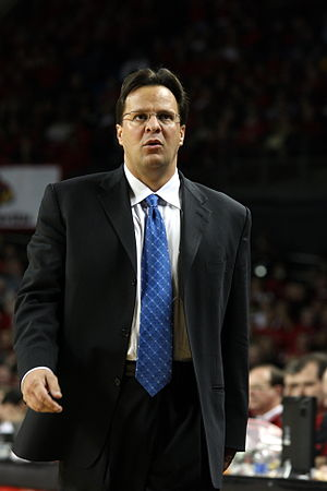 Tom Crean (basketball) - Crean on January 17, 2007 coaching at Freedom Hall
