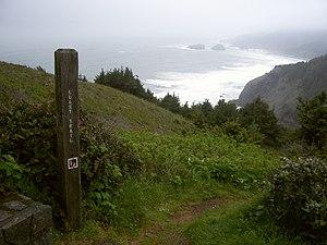 Oregon Coast Trail - Oregon Coast Trail crossing over a headland in Samuel H. Boardman State Park