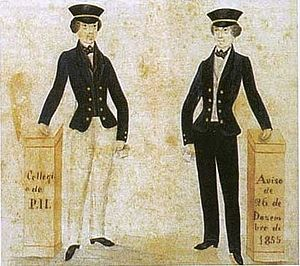 Colégio Pedro II - School uniforms (1855)
