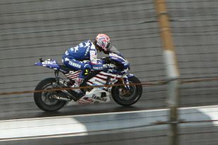 Colin Edwards lors du GP Red Bull Indianapolis de 2008