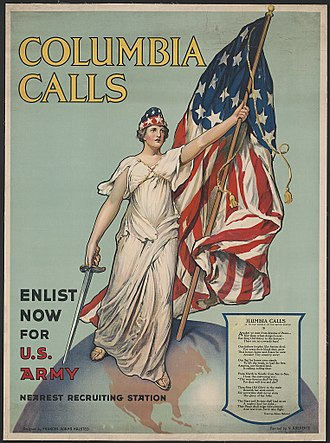 Vincent Aderente - Columbia Calls - Enlist Now for U.S. Army - poster by Aderente