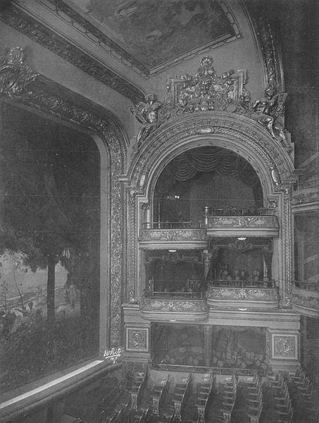 Columbia Theatre interior. 1910
