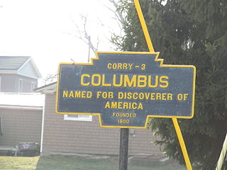 Columbus Township, Warren County, Pennsylvania Township in Pennsylvania, United States