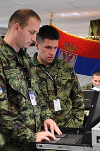 Combined Endeavor 2011 Serbian military.jpg