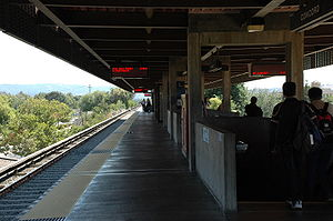 Concord station - A view of the Concord BART Station boarding platform