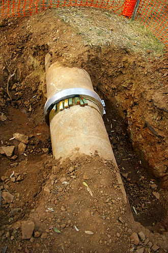 Water supply network - Most (treated) water distribution happens through underground pipes