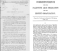 Conflicting British Government interpretations of the Hussein McMahon correspondence of 1915, showing interpretations from 1918 and 1922.png