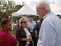 Congressman George Miller, Veronica Pope, Linda K. Rondeauand at the Lincoln Child Center & People Who Care Open House and Award Ceremony in Pittsburg on August 4, 2010. (7729128534).jpg
