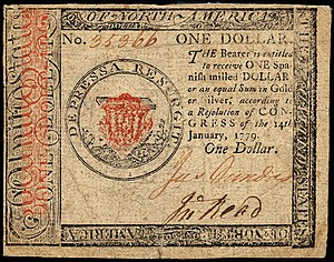 Continental Currency $1 banknote obverse (January 14, 1779).jpg