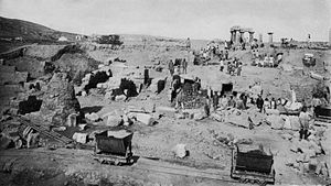View of the excavations in 1898.