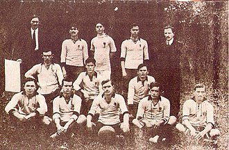 Sport Club Corinthians Paulista - The Corinthians squad that won its first title in 1914.