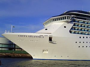 Bow of the cruise ship Costa Atlantica