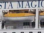 Costa Magica Lifeboat 5 Port of Tallinn 17 May 2018.jpg