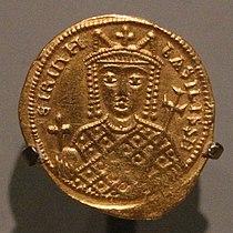 Costantinopoli, solido dell'imperatrice irene, 797-802.jpg