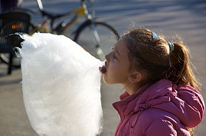 i haven't eaten candy floss since a little chi...