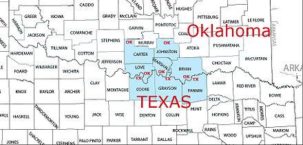 Map Of North Texas And Oklahoma.Texoma Wikiwand