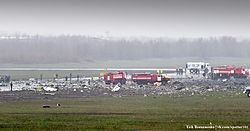 Crash site of flydubai Flight 981 at Rostov-on-Don Airport.jpg