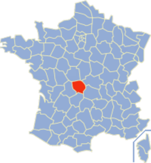 Communes of the Creuse department - Image: Creuse Position