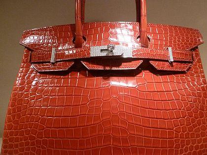edaa442a3689 Hermès red Crocodile-skin Birkin bag