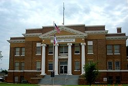 The Crosby County Courthouse in Crosbyton