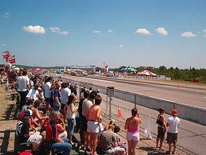 Crowd at Elliot Lake Airport Dragway
