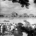 Crowds at the shore of Takao River.jpg