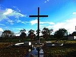 Cruz en el Aeropuerto de Iquitos en el lugar donde el papa Juan Pablo II dio su misa.jpg