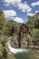 Crystal Mill, an 1892 wooden powerhouse located on an outcrop above the Crystal River in what remains of an old mining town, Crystal, high in the Rocky Mountains in Gunnison County, Colorado LCCN2015633762.tif