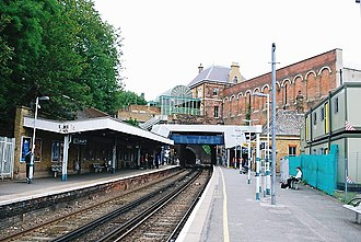 Crystal Palace railway station - Image: Crystal Palace Low Level station (6440811671)