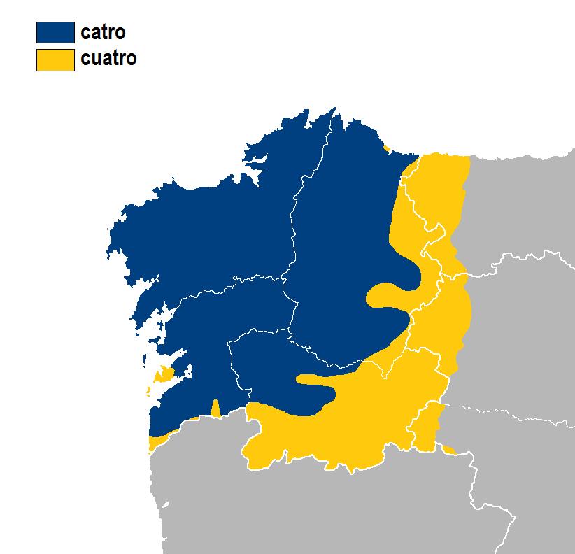 Cuatro-catro idioma gallego