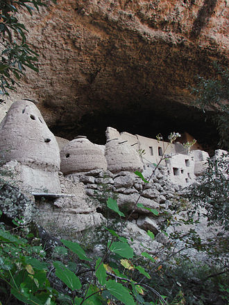 Chihuahua (state) - Cliff dwellings at Las Jarillas Cave, part of the Cuarenta Casas archeological site.