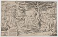 Cupid in the Elysian Fields tied to a tree in the centre, surrounded by many figures MET DP858680.jpg