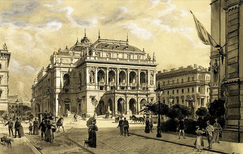 Archivo:Dörre The Budapest Opera House c. 1890.jpg