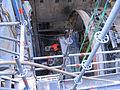 Düsseldorf Wehrhahn-Linie, Abbau des Bohrkopfs der Tunnelbohrmaschine Januar 2012 (1).jpg