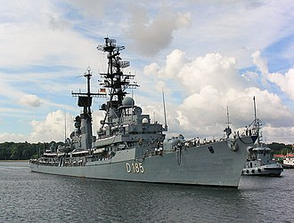 Lütjens-class destroyer - Image: D185 Lütjens