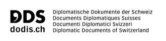Diplomatic Documents of Switzerland - Logo of the Diplomatic Documents of Switzerland project.