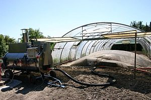 Soil steam sterilization - Sheet steaming with a MSD/moeschle steam boiler)