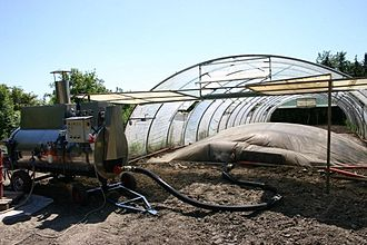 Sustainable agriculture - Sheet steaming with a MSD/moeschle steam boiler (left side)
