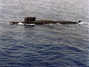 Damaged Yankee class submarine 2