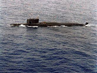 Yankee-class submarine - Image: Damaged Yankee class submarine 2