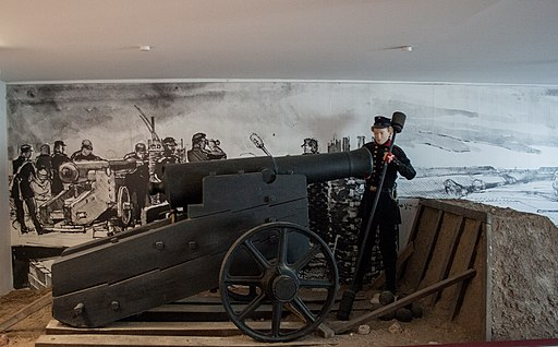 Danevirke Museum, gun from the war in 1864