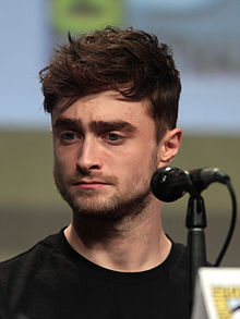 Daniel Radcliffe at the 2014 San Diego Comic-Con International .  Daniel Radcliffe