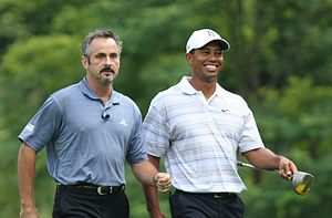 David Feherty - Feherty and Tiger Woods in 2007