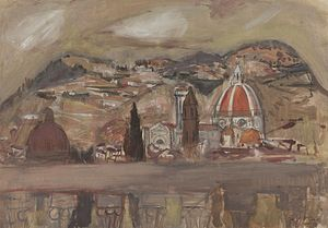 David McClure (artist) - Image: David Mc Clure Florence and the Hills of Fiesole