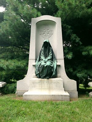 David R. Francis - Monument marking Francis's grave in Bellefontaine Cemetery.